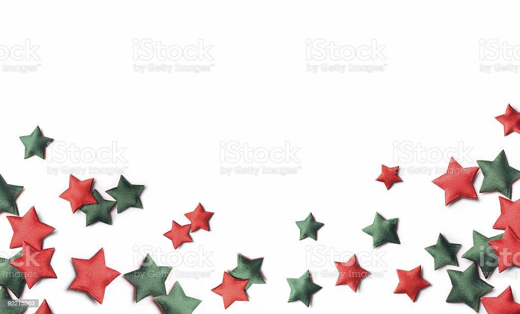 Christmas border made of stars royalty-free stock photo