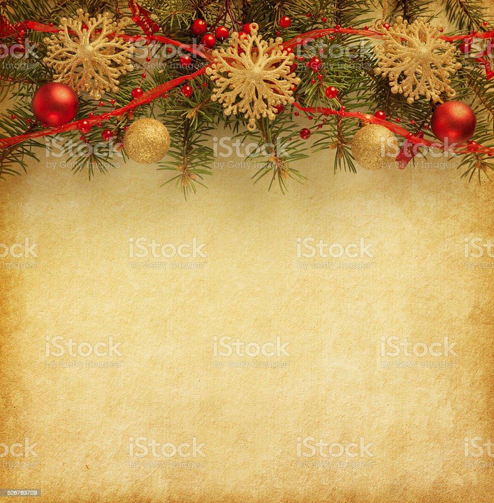 Christmas border. stock photo