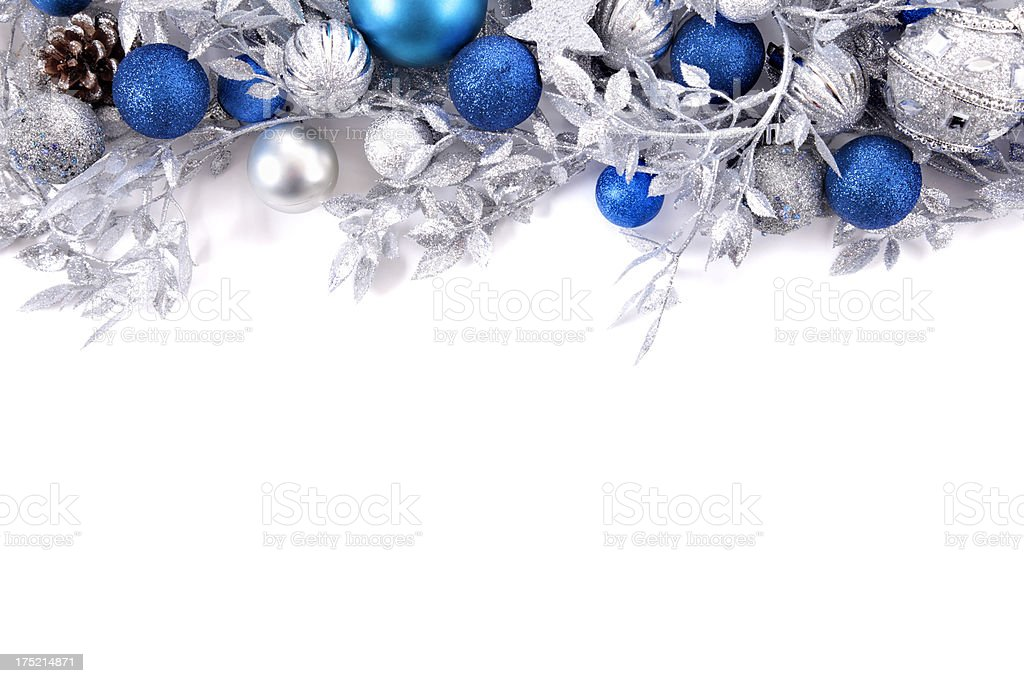 Christmas border with copy space stock photo