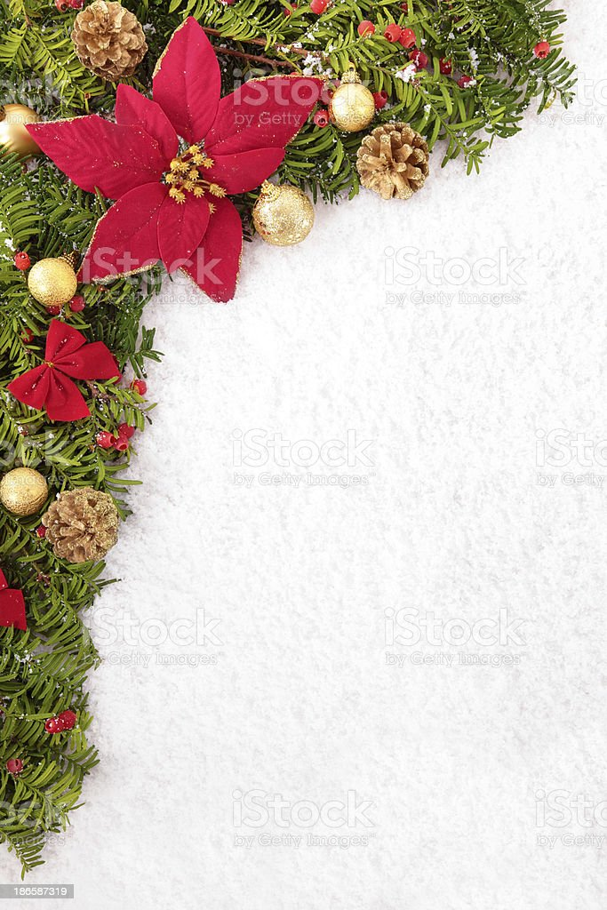 Christmas border with copyspace stock photo