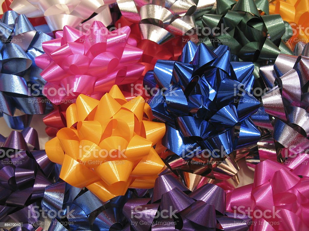 Christmas Bow Assortment royalty-free stock photo