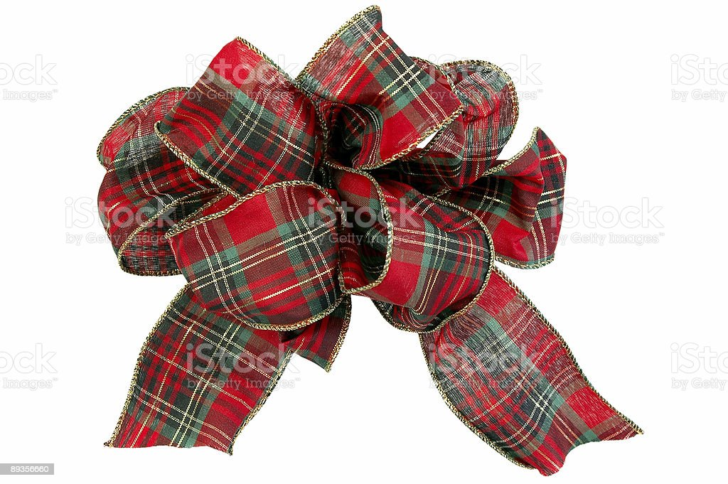 Christmas Bow royalty free stockfoto