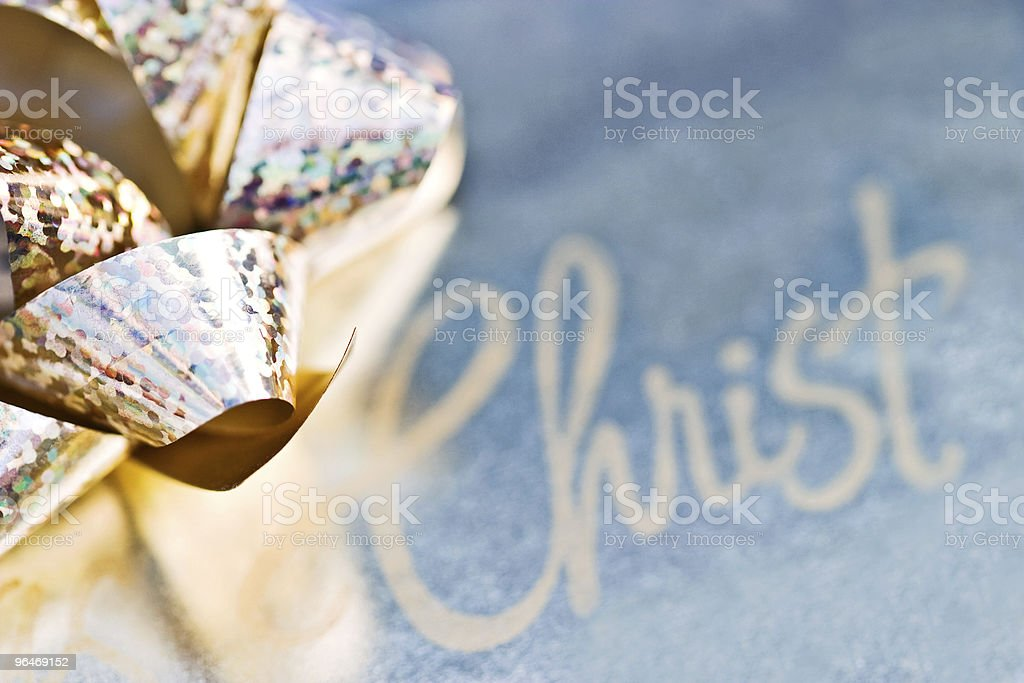 Christmas Bow royalty-free stock photo