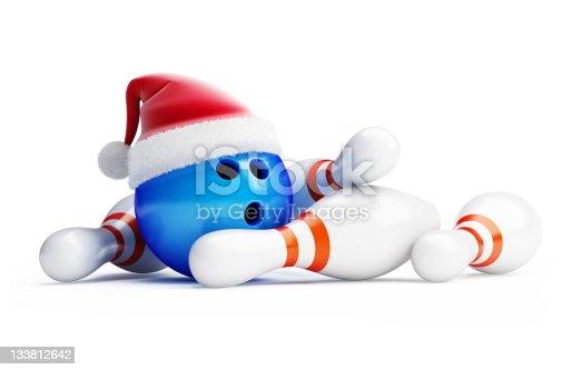 Christmas bowling new year Santa hat