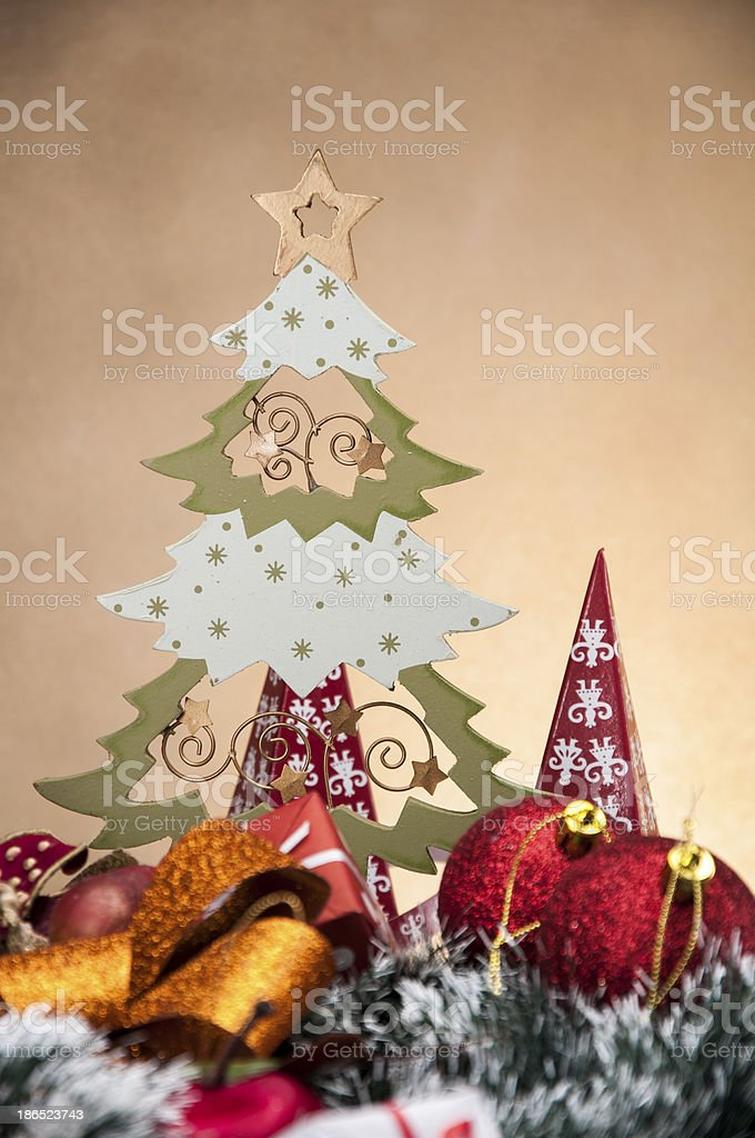 Christmas boxes, toys and gifts royalty-free stock photo