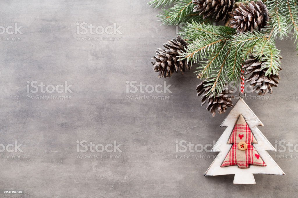 Christmas branches. Christmas greeting card. Symbol xmas. royalty-free stock photo