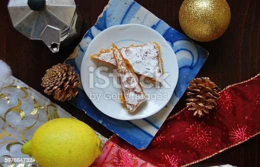christmas breakfast with traditional italian dessert panforte stock photo more pictures of baked istock