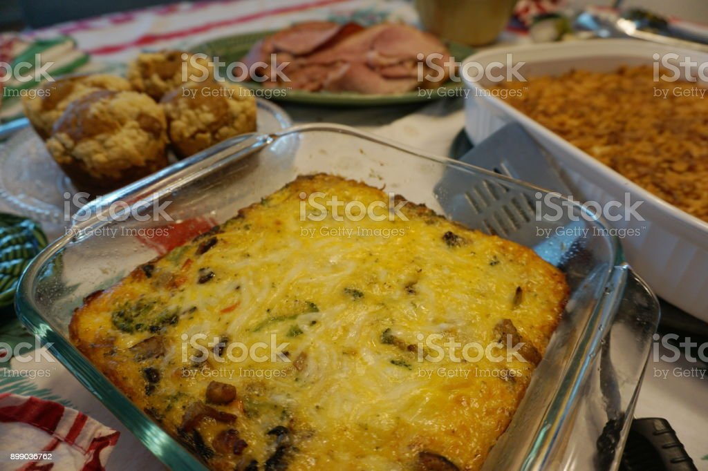 Christmas Brunch Table stock photo