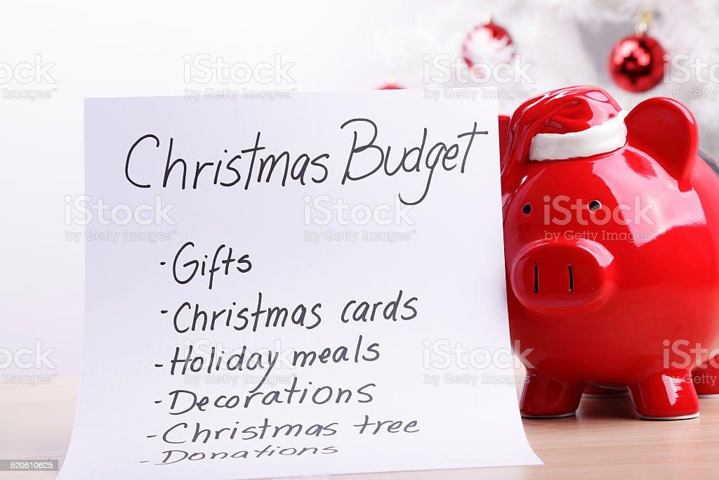 Christmas Budget Plan royalty-free stock photo