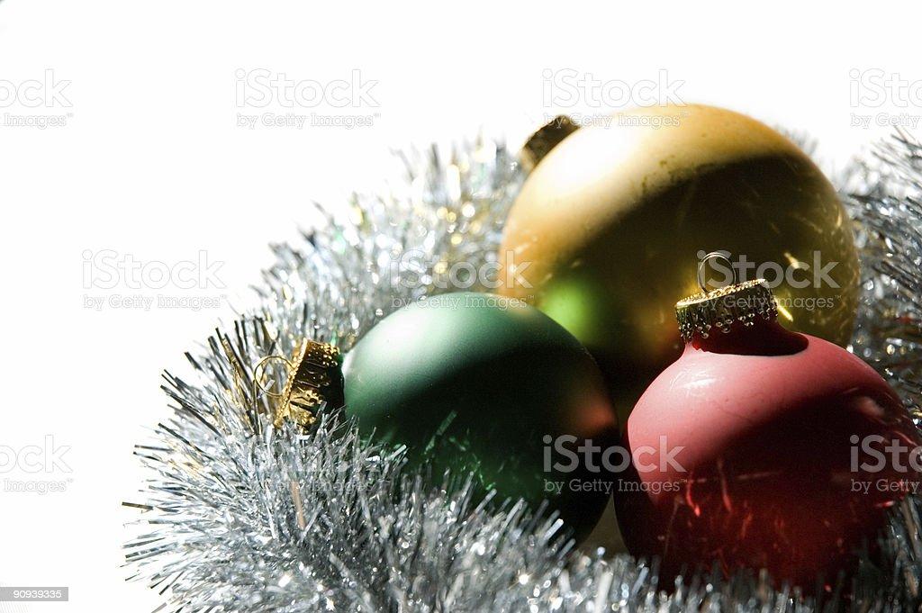 Christmas bulbs royalty-free stock photo
