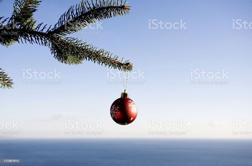 Christmas by the sea royalty-free stock photo