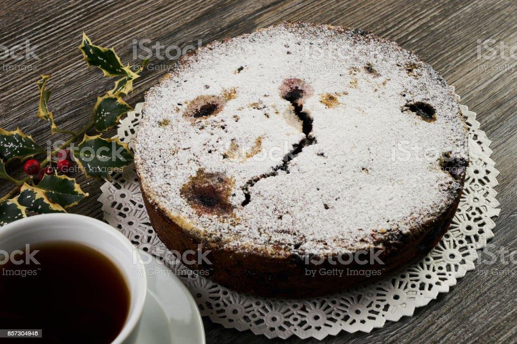 Gâteau de Noël et de décorations de Noël - Photo