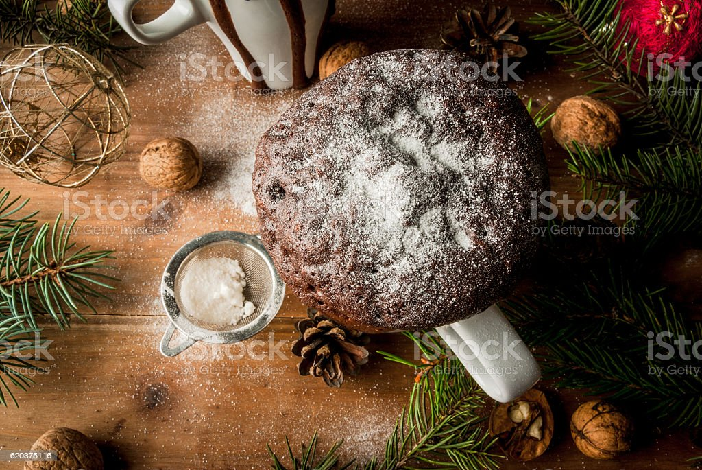 Christmas cake in a cup, mug-cake foto de stock royalty-free
