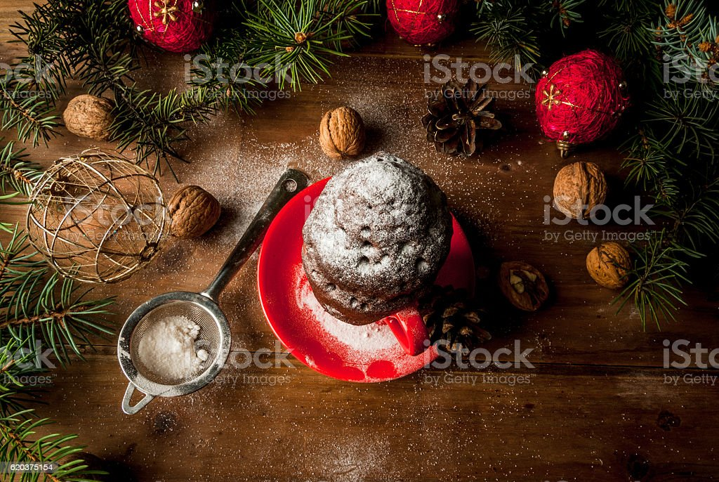 Christmas cake in a cup, mug-cake foto de stock royalty-free