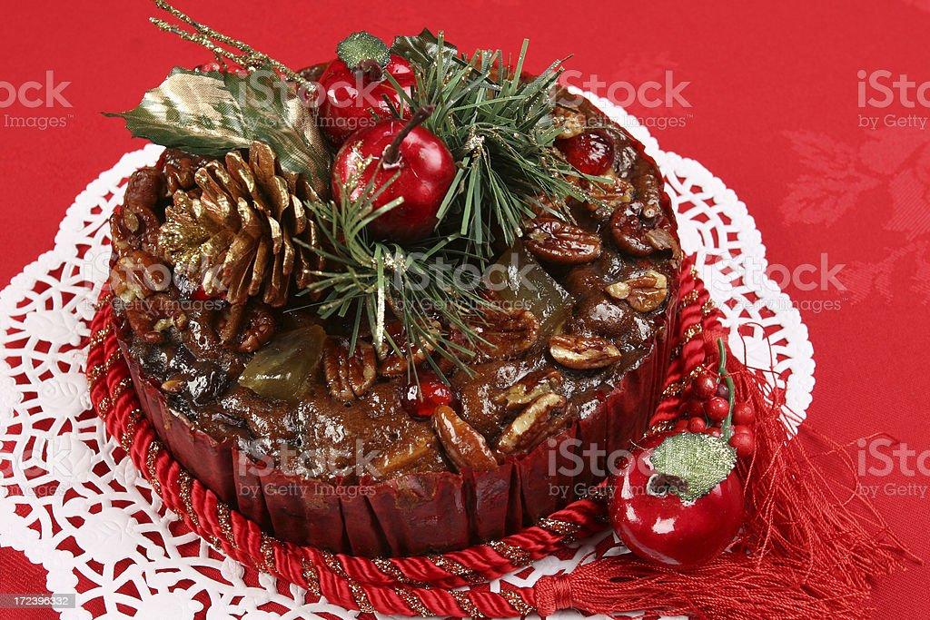 Christmas cake royalty-free stock photo
