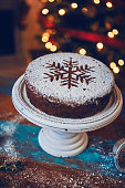 Christmas Cake with Dried Fruits and Nuts