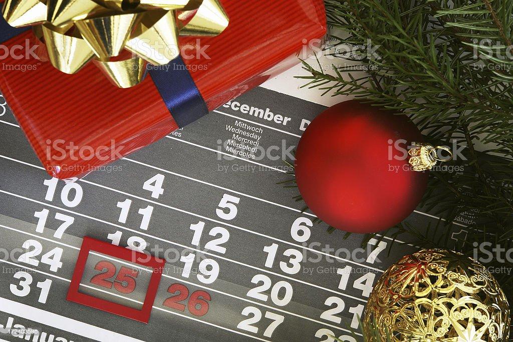 Christmas Calendar royalty-free stock photo