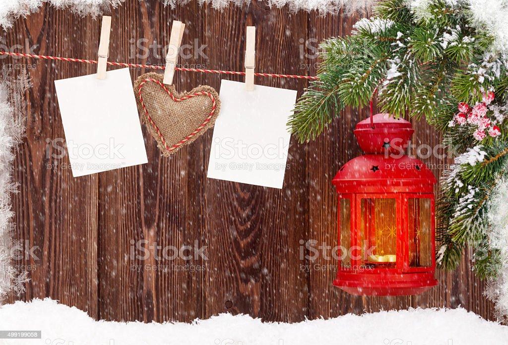 Fotorahmen Weihnachten.Weihnachten Kerze Laterne Und Fotorahmen Stockfoto Und Mehr Bilder
