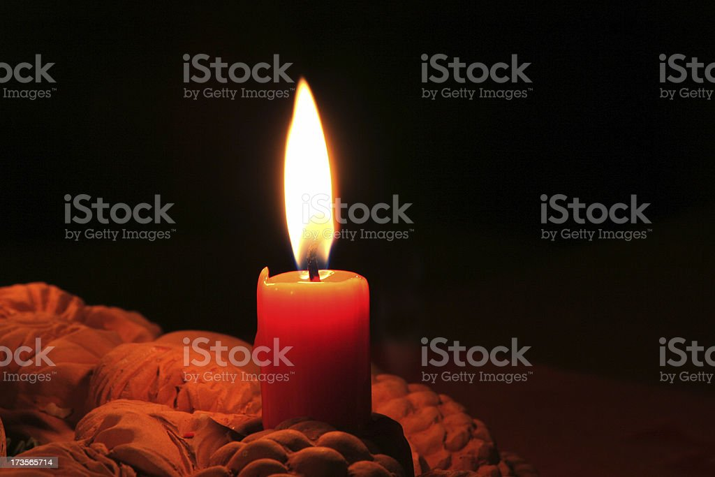 Christmas candle. royalty-free stock photo