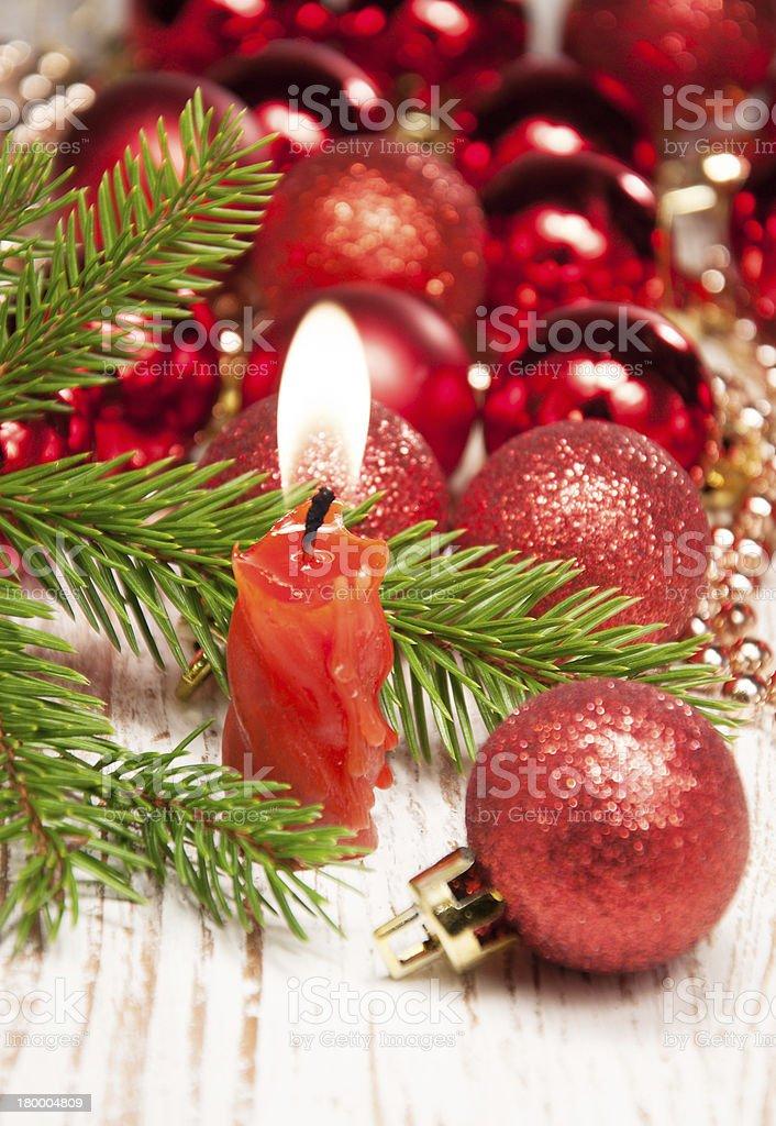 크리스마스 캔들 royalty-free 스톡 사진