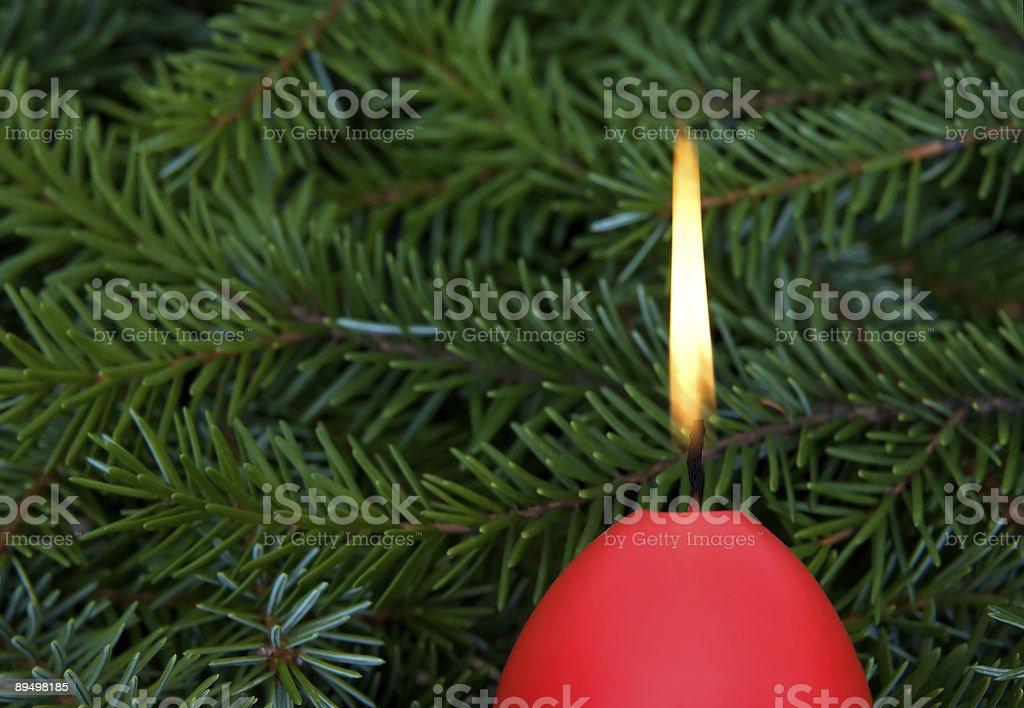 Christmas candle royalty free stockfoto