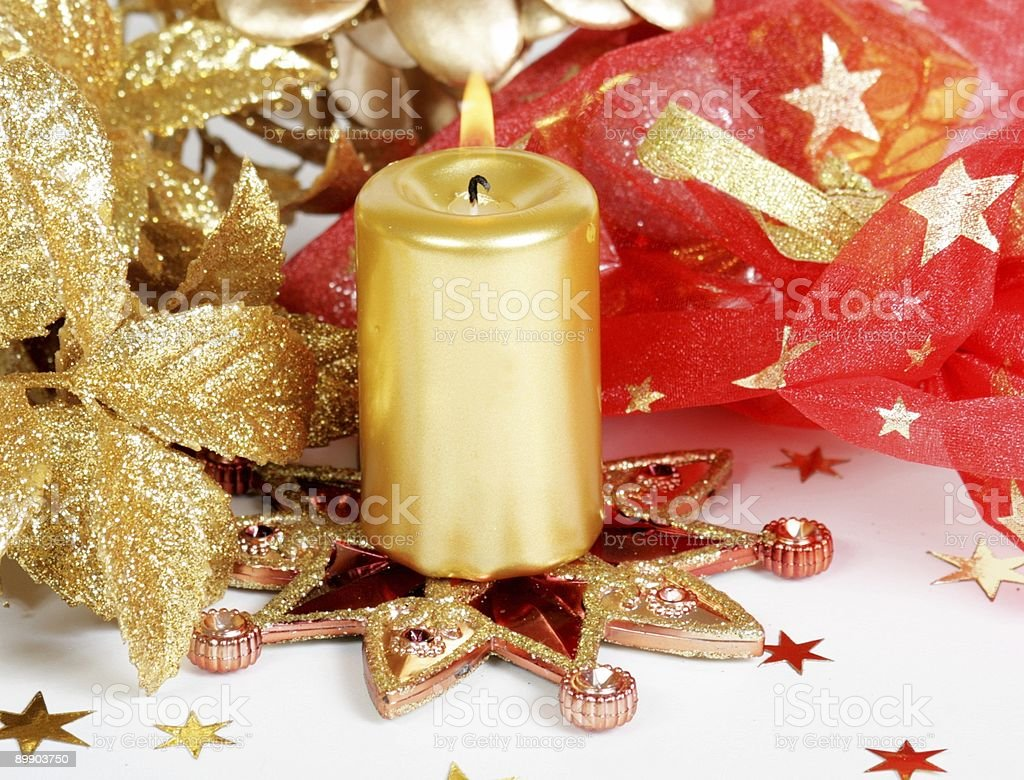Christmas candle royalty-free stock photo