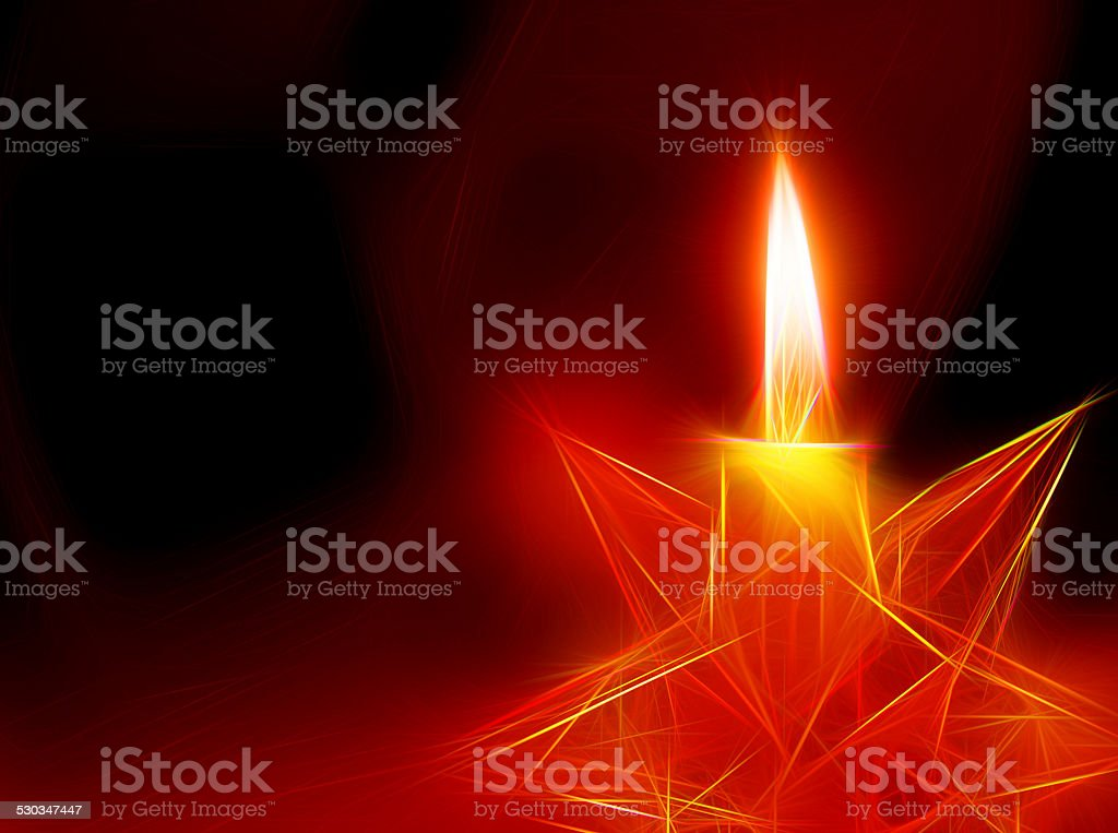 Christmas candle Popart stock photo