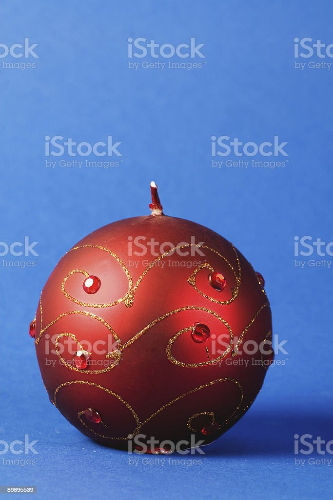 Christmas candle portrait royalty-free stock photo