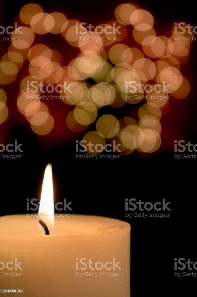 Christmas candlelight stock photo