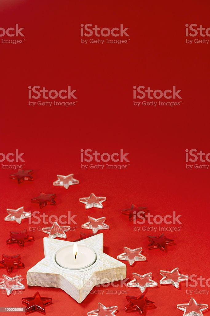 Christmas candles decoration royalty-free stock photo