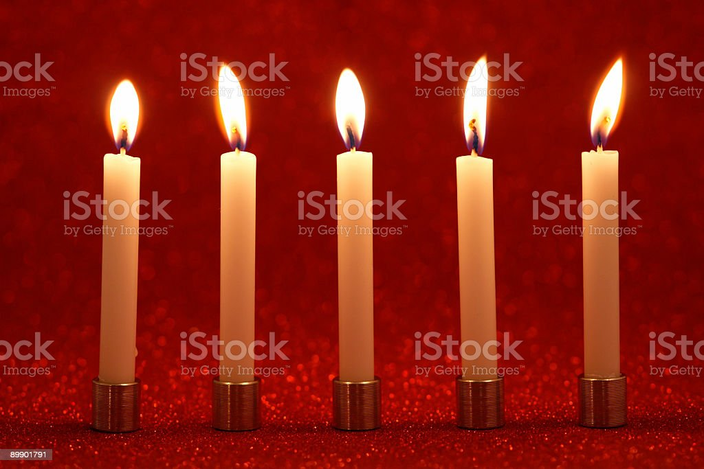 Candele natalizie foto stock royalty-free