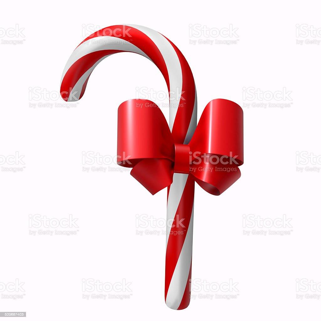 Christmas candy cane isolated on white background stock photo