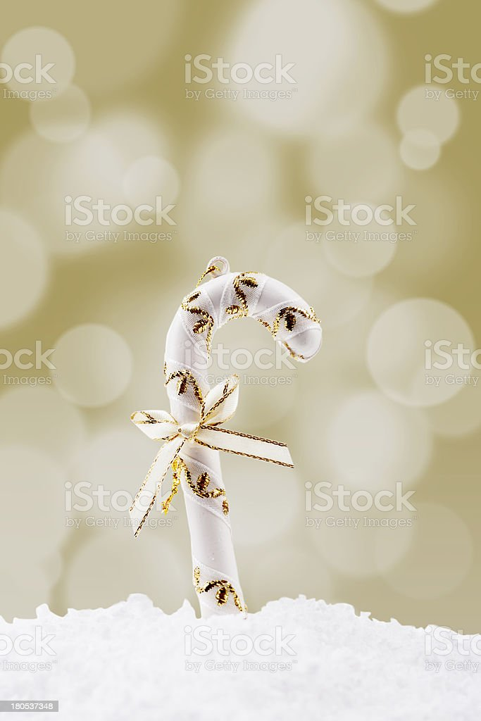 Christmas candy cane royalty-free stock photo