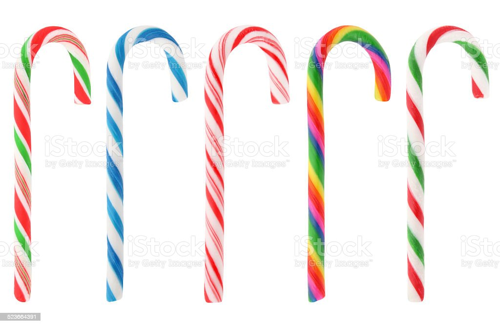 Christmas candy canes collection XXXL (with path) stock photo