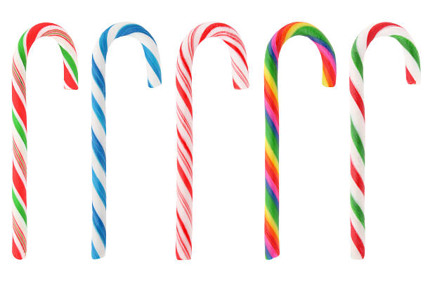Christmas candy canes collection XXXL Colorful Christmas candy canes collection isolated on white candy cane stock pictures, royalty-free photos & images