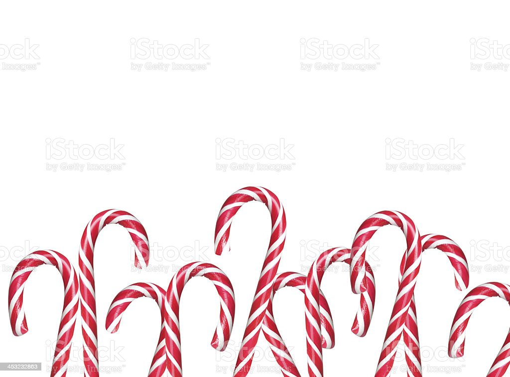 Christmas candy canes on a white background royalty-free stock photo