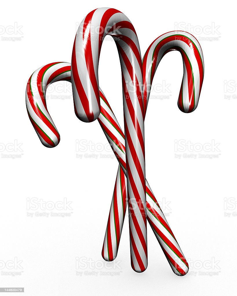 Christmas Candy Canes royalty-free stock photo