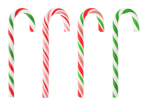 christmas candy canes with path stock photo - Christmas Candy Canes