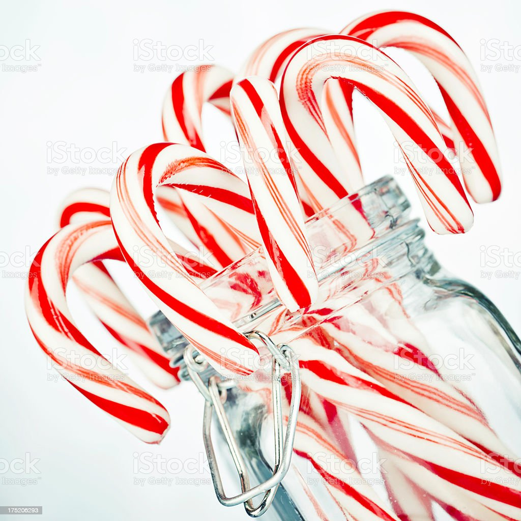 Christmas Candy Canes with Copy Space royalty-free stock photo
