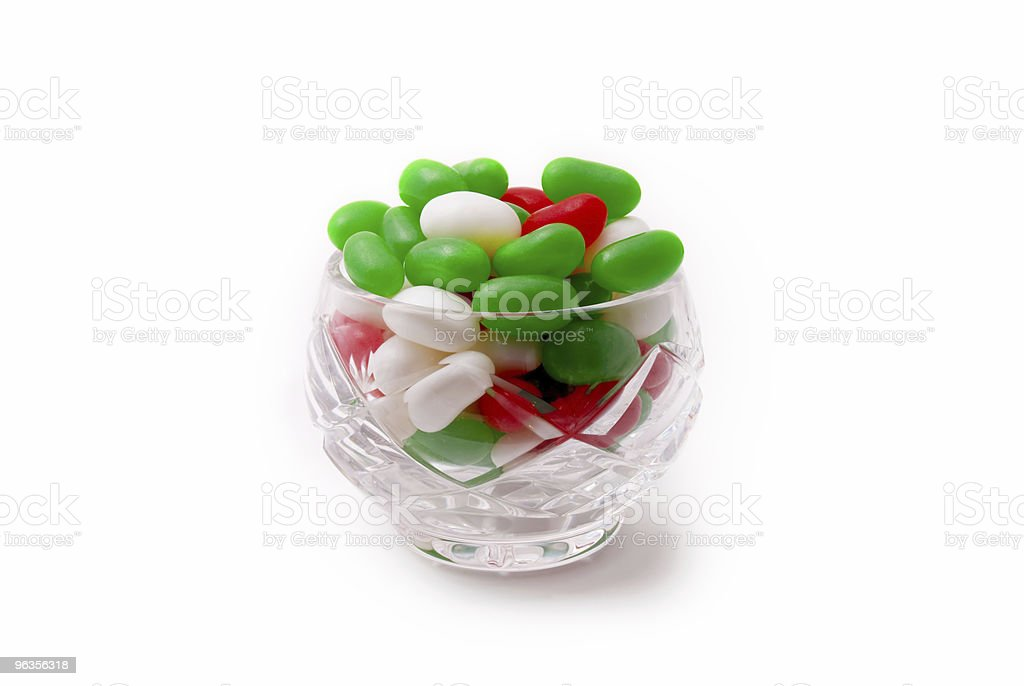 Christmas Candy in Crystal Dish royalty-free stock photo