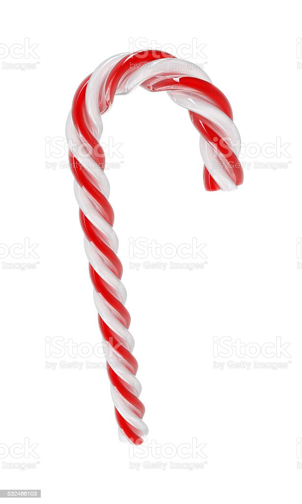 Christmas candy - white and red - Isolated on white. stock photo