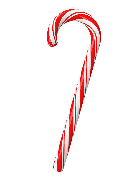 christmas candy with clipping path stock photo - Christmas Candy Cane