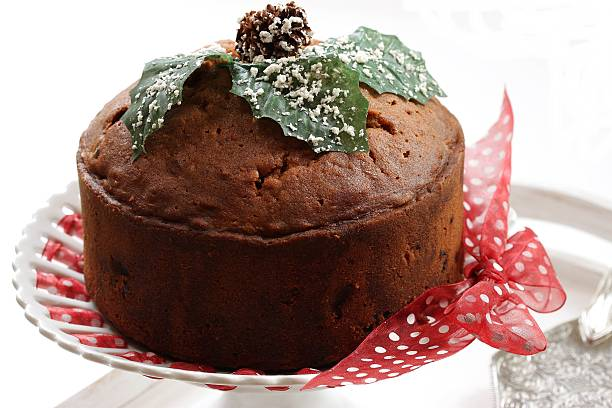 Christmas Caramel cake stock photo