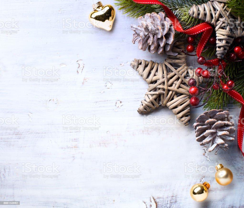 Arbre Bois Blanc Decoration photo libre de droit de fond de carte de noël décoration