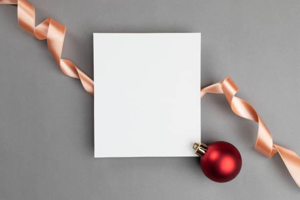 weihnachtskarte - gutschein weihnachten stock-fotos und bilder
