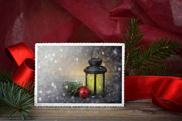 christmas card  - kerzenbilder stock-fotos und bilder