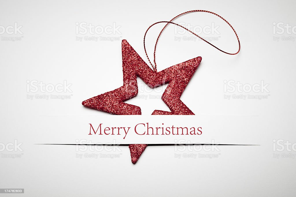 Christmas Card - Red Star royalty-free stock photo
