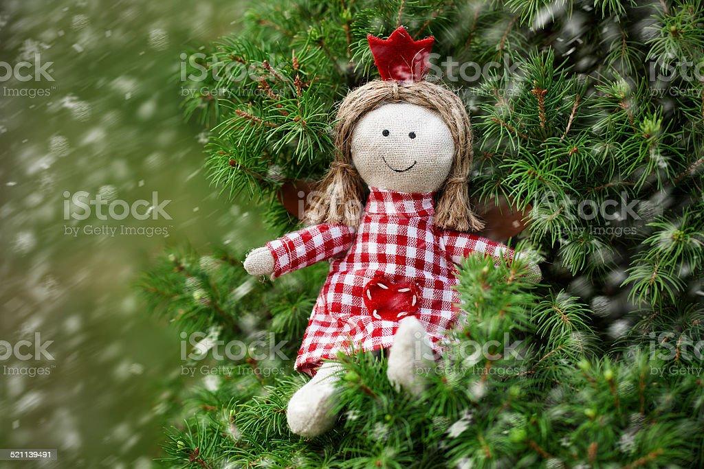 Cartão de Natal com anjo - foto de acervo