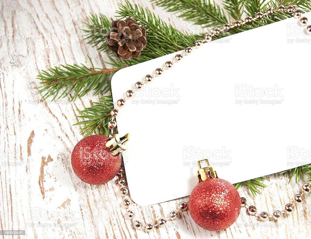 크리스마스 카드를 장식 royalty-free 스톡 사진