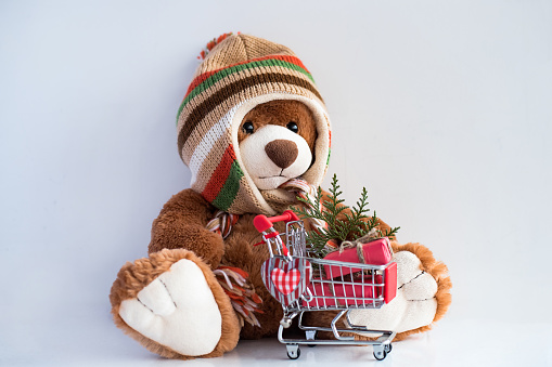 Picture Christmas Winter hat Gifts Teddy bear Toys Holidays | 339x509